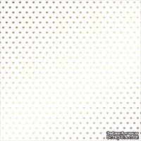 Лист веллума в золотые сердечки от American Crafts - Gold Foil Hearts, 30х30 см