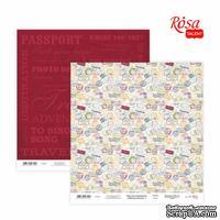 Бумага для скрапбукинга от ROSA TALENT - Make your journey 4, двусторонняя, 30х30см, 200г/м2