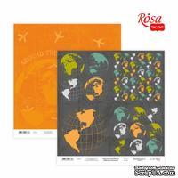 Бумага для скрапбукинга от ROSA TALENT - Make your journey 5, двусторонняя, 30х30см, 200г/м2