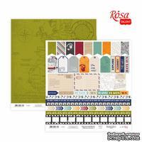 Бумага для скрапбукинга от ROSA TALENT - Make your journey 6, двусторонняя, 30х30см, 200г/м2