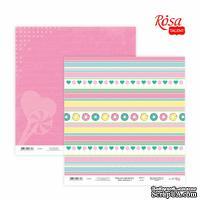 Бумага для скрапбукинга от ROSA TALENT - Cake delicious 2, двусторонняя, 30х30см, 200г/м2