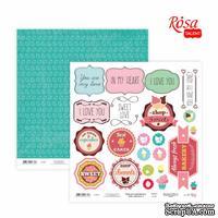 Бумага для скрапбукинга от ROSA TALENT - Cake delicious 3, двусторонняя, 30х30см, 200г/м2