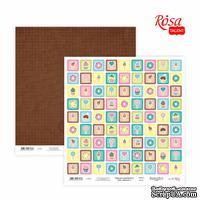 Бумага для скрапбукинга от ROSA TALENT - Cake delicious 4, двусторонняя, 30х30см, 200г/м2