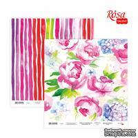 Бумага для скрапбукинга от ROSA TALENT - Floral Poem 14, двусторонняя, 30х30см, 200г/м2
