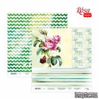 Бумага для скрапбукинга от ROSA TALENT - Floral Poem 15, двусторонняя, 30х30см, 200г/м2