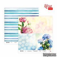 Бумага для скрапбукинга от ROSA TALENT - Floral Poem 16, двусторонняя, 30х30см, 200г/м2