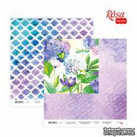 Бумага для скрапбукинга от ROSA TALENT - Floral Poem 17, двусторонняя, 30х30см, 200г/м2