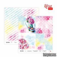 Бумага для скрапбукинга от ROSA TALENT - Floral Poem 18, двусторонняя, 30х30см, 200г/м2