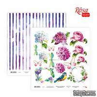 Бумага для скрапбукинга от ROSA TALENT - Floral Poem 19, двусторонняя, 30х30см, 200г/м2