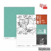 Бумага для скрапбукинга от ROSA TALENT - Recipe book 4, двусторонняя, 30,48х30,48см, 200г/м2