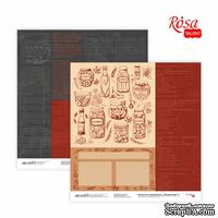 Бумага для скрапбукинга от ROSA TALENT - Recipe book 5, двусторонняя, 30,48х30,48см, 200г/м2