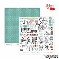 Бумага для скрапбукинга от ROSA TALENT - Recipe book 7, двусторонняя, 30,48х30,48см, 200г/м2