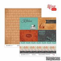 Бумага для скрапбукинга от ROSA TALENT - Recipe book 8, двусторонняя, 30,48х30,48см, 200г/м2
