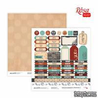 Бумага для скрапбукинга от ROSA TALENT - Recipe book 9, двусторонняя,30,48х30,48см, 200г/м2