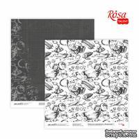 Бумага для скрапбукинга от ROSA TALENT - Recipe book 1, двусторонняя, 30,48х30,48см, 200г/м2