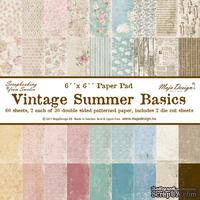 Набор бумаги для скрапбукинга от Maja Design - Vintage Summer Basics - Paper Pad, 15х15 см, 60 листов