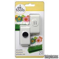 Набор фигурных дыроколов EK Tools - Buttons And Holes, 2 штуки - ScrapUA.com