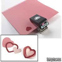 Дырокол EK Tools 3D HEART LAYERING PUNCH - 3 в 1