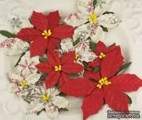 Набор цветов пуансеттии Prima - Holiday Celebration snowflake