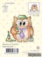 """Акриловый штамп от LeCreaDesign - Owlie's, """"Popco at Party"""" - Сова и праздник"""