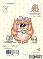 Акриловый штамп от LeCreaDesign - Clearstamp Owlie's Pipa at party - Совушка на празднике