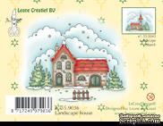 Акриловый штамп от LeCreaDesign - Clearstamp Winter landscape house - Зимний пейзаж с домиком
