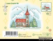Акриловый штамп от LeCreaDesign - Clearstamp Winter landscape church - Зимний пейзаж с церковью