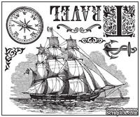 Набор акриловых штампов от компании Prima - Clear Stamps Almanac, 6х7см, 7 шт.