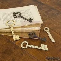 ЦЕНА СНИЖЕНА! Набор деревянных украшений Prima - Ключики - Key Embellishments