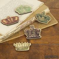 ЦЕНА СНИЖЕНА! Набор деревянных украшений Prima - Короны - Crown Embellishments