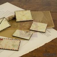 ЦЕНА СНИЖЕНА! Набор деревянных украшений Prima - Конвертики - Envelope Embellishments
