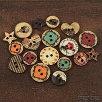 ЦЕНА СНИЖЕНА! Деревянные пуговицы Prima - Romance Novel Wood Buttons