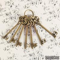Набор металлических украшений Prima - Ключики - Vintage Rusty Keys