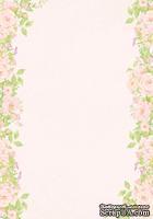 Лист двусторонней скрапбумаги от Galeria Papieru - Jak we snie - JWS II 01  - 10х14,5см, розовый фон