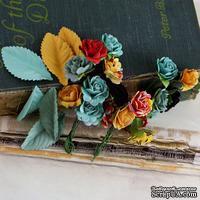 Набор цветов и листиков Prima - Perles Welcome to Paris