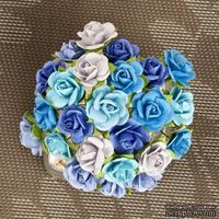 Набор объемных цветов Prima -  Mulberry Paper Flowers Mini Sachet - Lagoon
