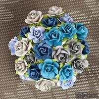 Набор объемных цветов Prima -  Mulberry Paper Flowers Mini Sachet - Surf