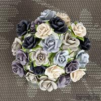 Набор объемных цветов Prima -  Mulberry Paper Flowers Mini Sachet - Winter