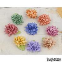 Набор объемных цветов Prima -  Lil Missy Mulberry Paper Flowers
