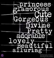 ЦЕНА СНИЖЕНА! Трафарет от Prima - Graphic 45 - Princess, 30х30 см