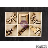 ЦЕНА СНИЖЕНА! Деревянные украшения Prima - Stationer's Desk - Wood Embellishments