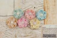 Тканевые цветы от Prima - Princess Flower- Ballroom, 6 шт