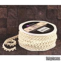 Вязаное кружево Prima - Lace Trim - Almond, цвет кремовый, 90 см