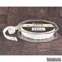 Вязаное кружево Prima - Lace Trim - Snow, цвет белый, 90 см