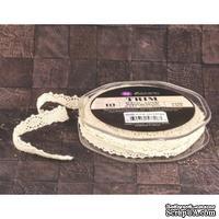 Вязаное кружево Prima - Lace Trim - Sand, цвет кремовый, 90 см