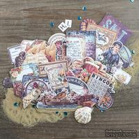 Высечки от Prima - French Riviera Ephemera Cardstock Die-Cuts, 50 шт