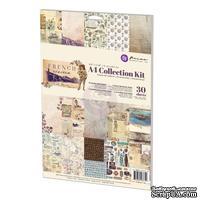 Набор бумага+наклейки от Prima - French Riviera Collection Kit, A4, 27 л