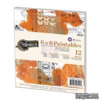 Набор акварельной бумаги от Prima - Vintage Emporium Paintables, 15,24x15,24 см, 12 л