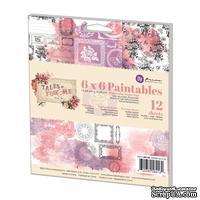 Набор акварельной бумаги от Prima - Tales Of You & Me Paintables, 15,24x15,24 см, 12 л