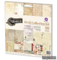 Набор бумага+наклейки  от Prima - Vintage Emporium Collection Kit, 30,4x30,4 см, 27 л